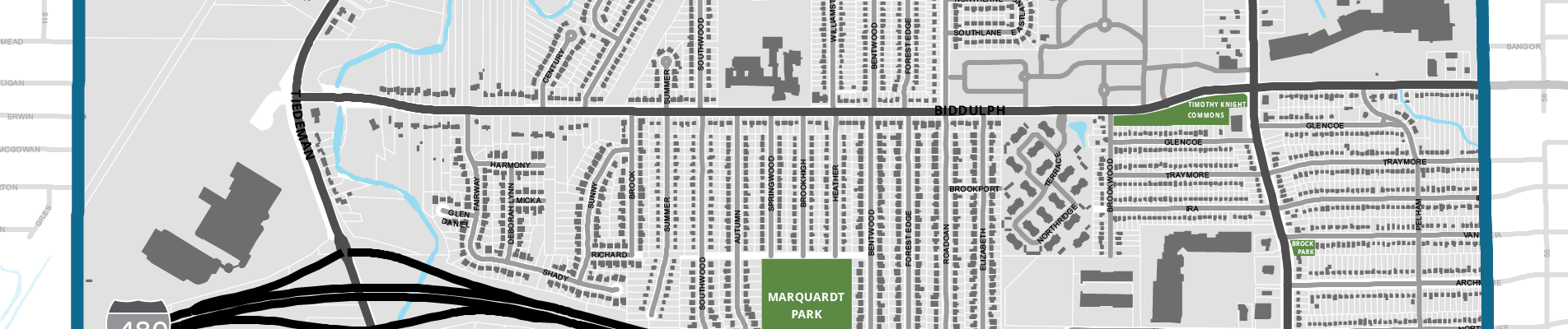 partial map of Brooklyn